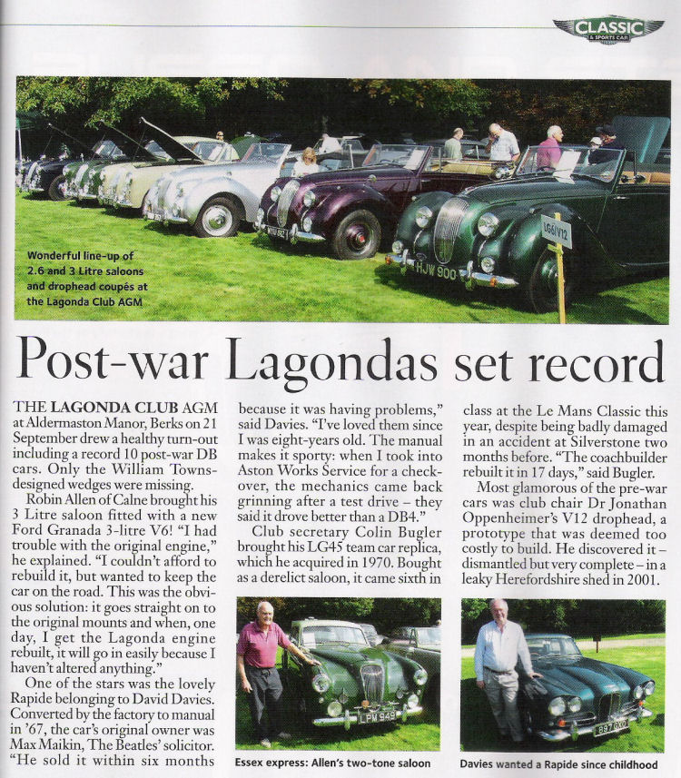 Lagonda Club AGM 2008