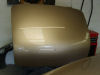 Boot lid in finishing coat